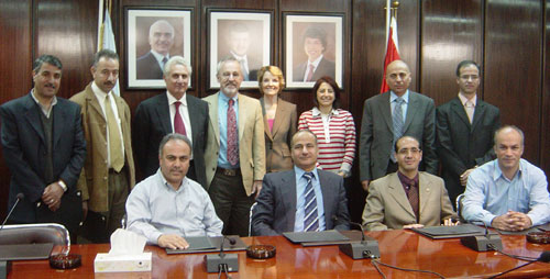 Richard Larson and Elizabeth Murray with BLOSSOMS team at Jordan University of Science and Technology.